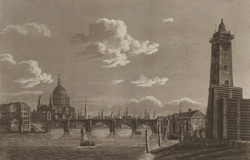 View of Blackfriars Bridge and St Paul's from the Patent Shot Manufactory on the South Side of the River